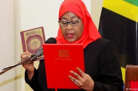 Tanzania's Vice President Samia Suluhu Hassan Sworn in As Female president in Tanzania